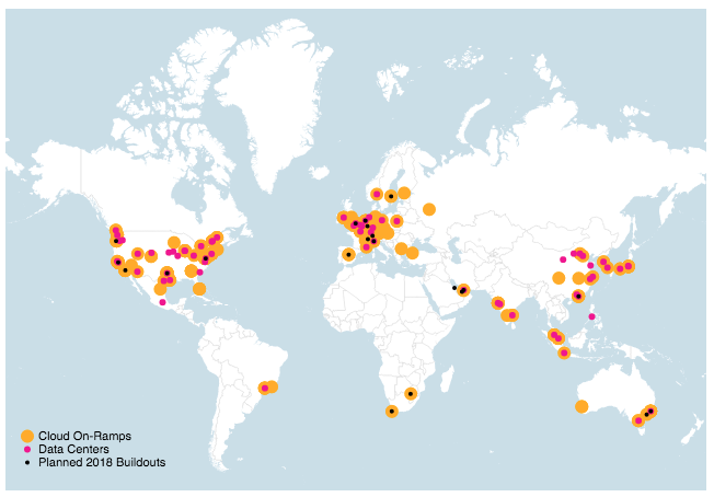 Global Cloud Data Center and On-Ramp Locations